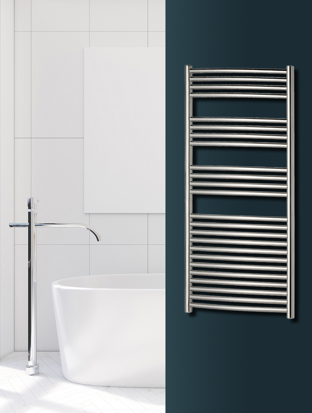 Omega Chrome Towel Warmer