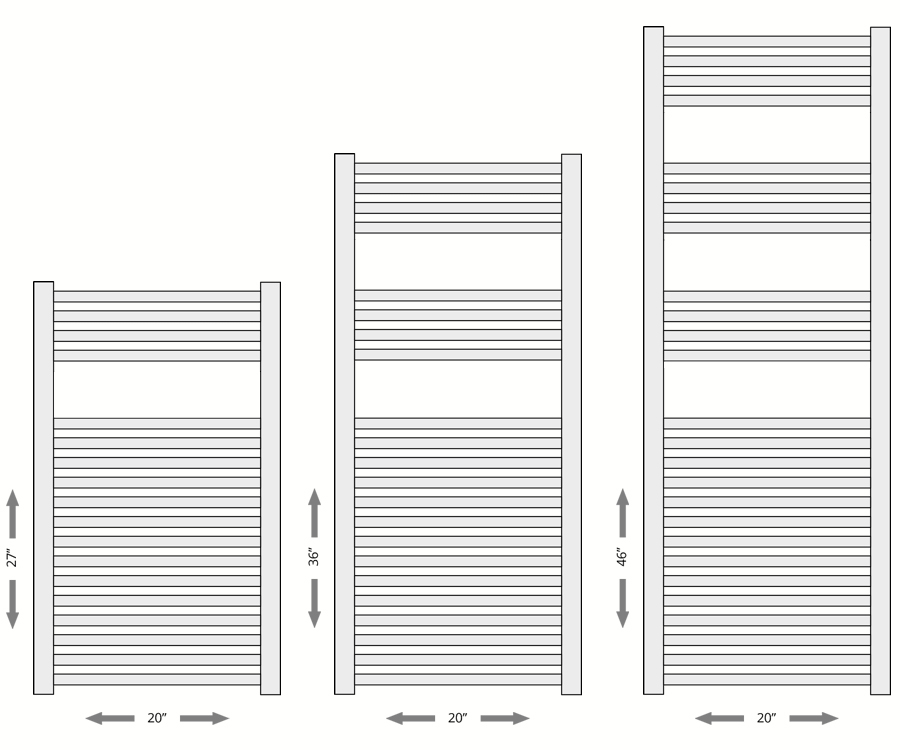 Omega Chrome Towel Warmer Specifications