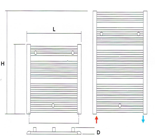 Pini Towel Warmer Specifications